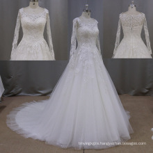 New Arrival Long Sleeve Lace Bridal Gown A-Line Wedding Dresses